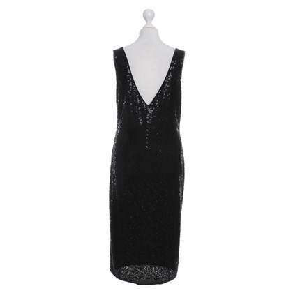 Pauw vestito da cocktail con paillettes in nero
