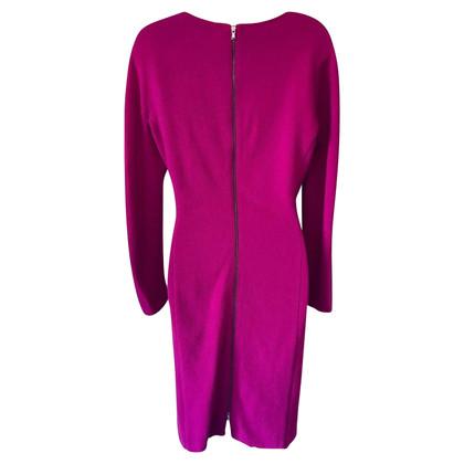 Barbara Schwarzer Cerise Pink Wool Shift Dress