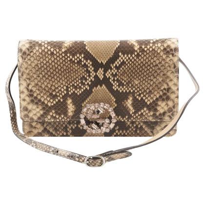 Gucci Python leather shoulder bag