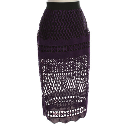 Self-Portrait skirt with cut-outs