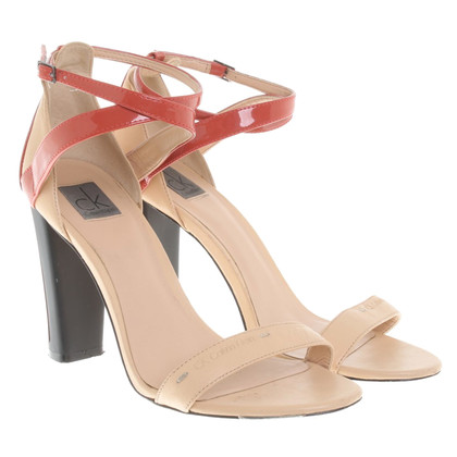 Calvin Klein Leather sandals in beige
