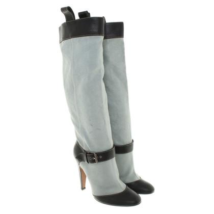 Moschino Stiefel in Rauchblau