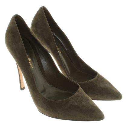 Gianvito Rossi Wildlederpumps in Olivgrün