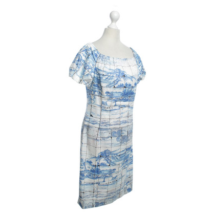 Prada Summer dress with tile pattern