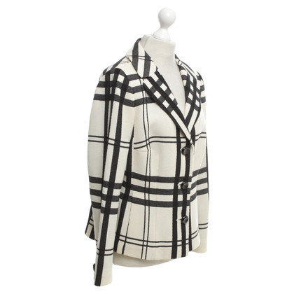 Rena Lange Checkered blazer in cream / black