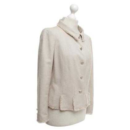 Chanel Silk Blazer in beige