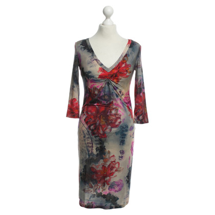 John Galliano Kleurrijke jurk met ruffle