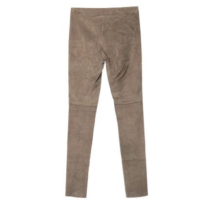 Altre marche DNA - Pantaloni in suede beige