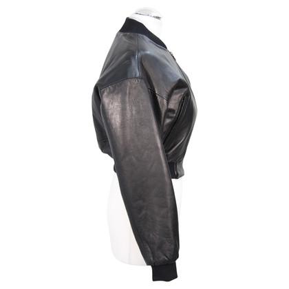 Calvin Klein Veste en cuir noir