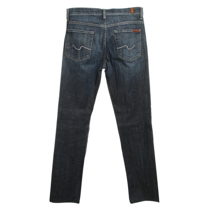 7 For All Mankind Highwaist Jeans Washed en bleu