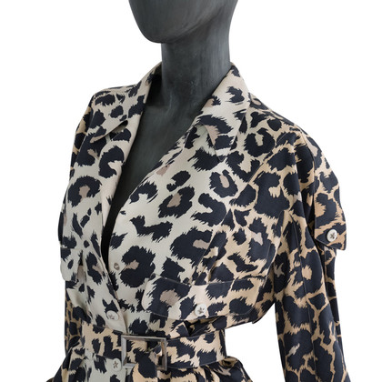 Mugler Jacket with Leopard print