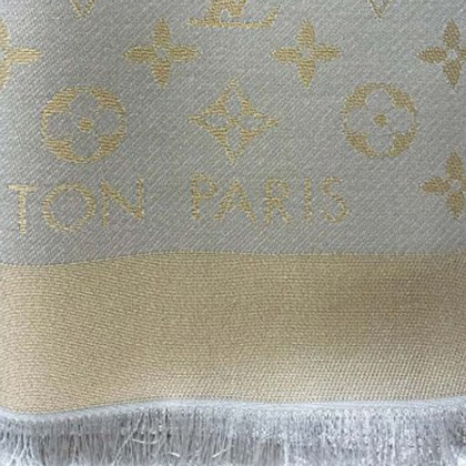 Louis Vuitton Panno Monogram Shine in beige / oro