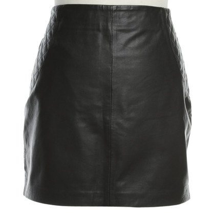 Rich & Royal Leather mini skirt