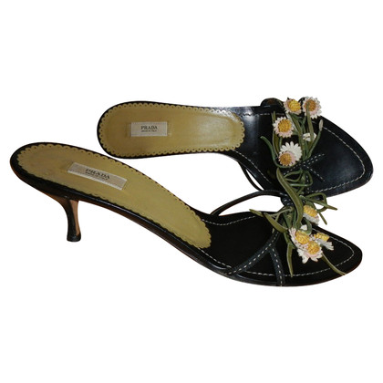Prada shoes with flowers