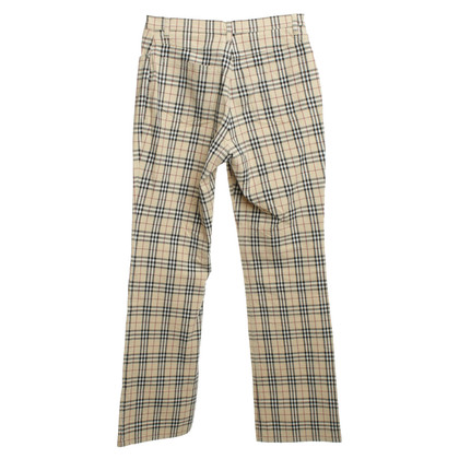 Burberry Pants with plaid pattern