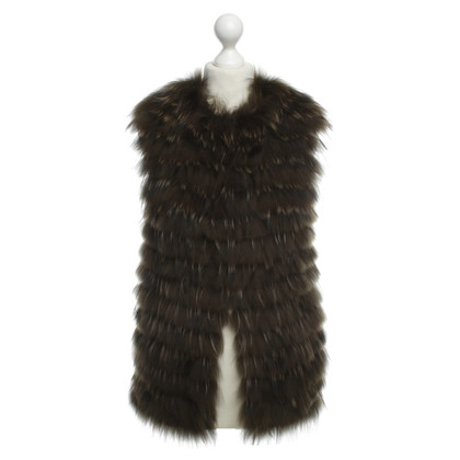 Allude Waistcoat with knit/fur