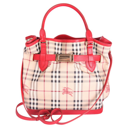 Burberry Burberry Checkered Top Handle Bag