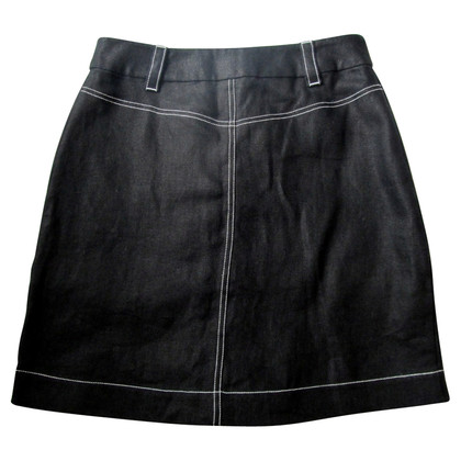 Hobbs Black Linen Skirt