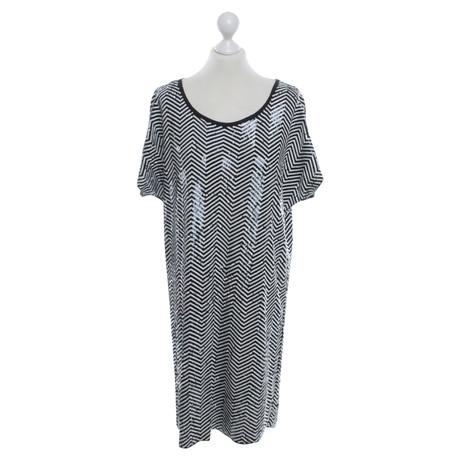 Michael Kors Paillettenkleid mit Zick-Zack-Muster Bunt / Muster