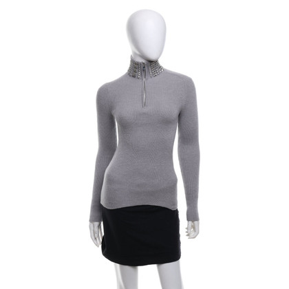 Maje Sweater with studded trim
