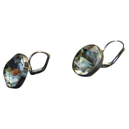 Swarovski Earrings with gray stone
