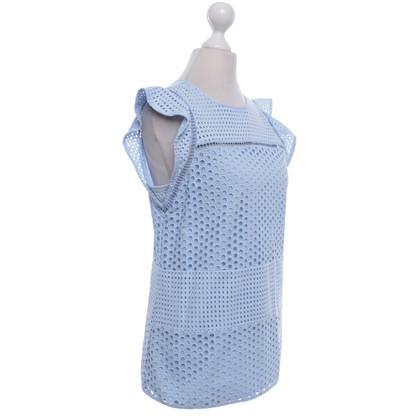 Michael Kors Lichtblauwe blouse met kant gat