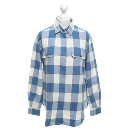 Closed Flannel blouse with checked pattern