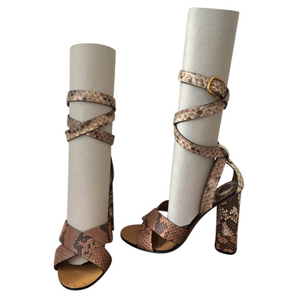 Gucci Leather Sandals Python