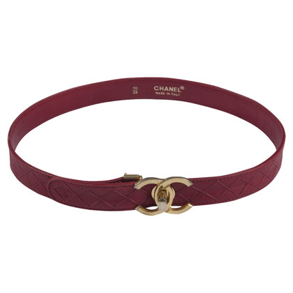 chanel belt. chanel timeless red leather belt