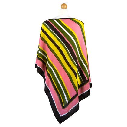 BCBG Max Azria Poncho lavorato a maglia con motivo a strisce