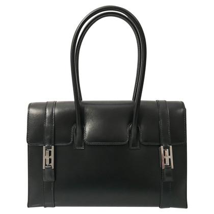 "Hermès ""Drag Bag Box Leather Black"""