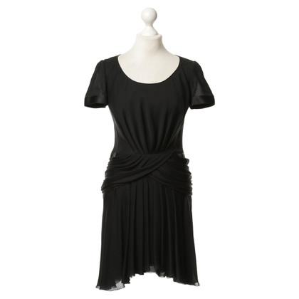 Chanel zijden jurk in zwart