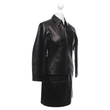 Prada 3-piece costume made of soft leather