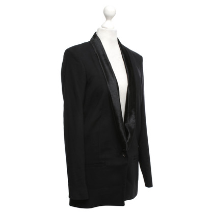 Helmut Lang Blazer with real fur collar
