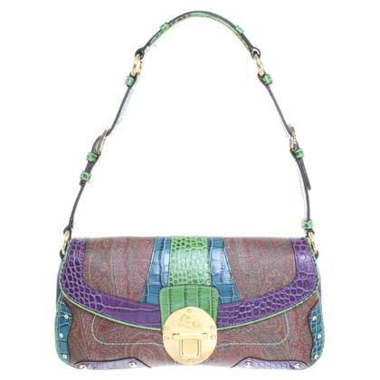 Etro Handtasche aus Material-Mix