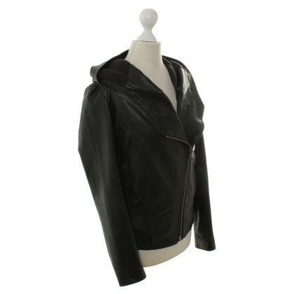 Helmut Lang Leren jas in zwart