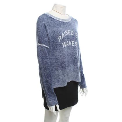 360 Sweater maglioni di cachemire in blu / crema