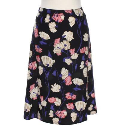 Prada Zijden rok met bloemmotief