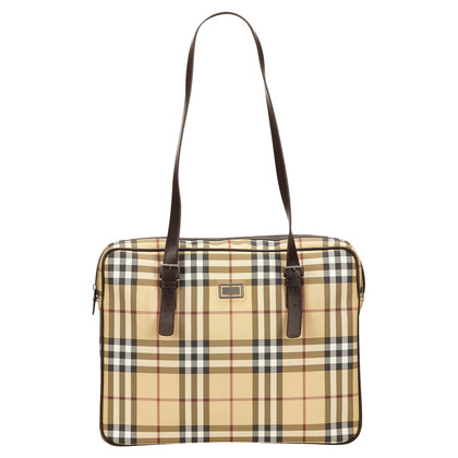 Burberry Plaid Nylon-Umhängetasche