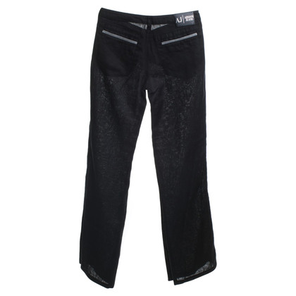 Armani Jeans Linen trousers in black