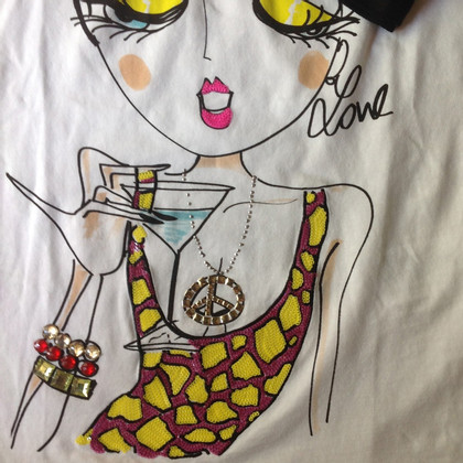 Moschino Love T-shirt with sequins / jewelery
