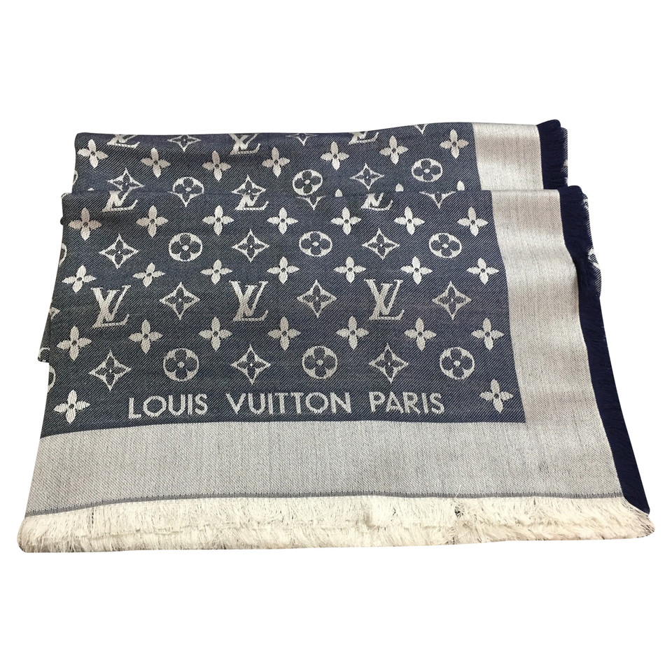 louis vuitton tuch mit monogramm muster second hand louis vuitton tuch mit monogramm muster. Black Bedroom Furniture Sets. Home Design Ideas