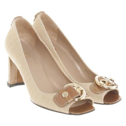 Stuart Weitzman Peep-toes with patent leather