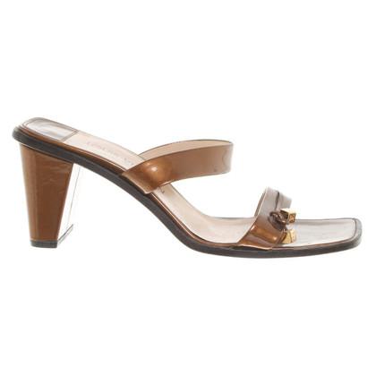 Louis Vuitton Bronzefarbene Sandaletten