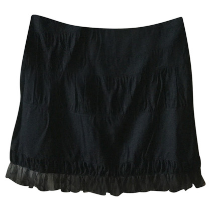 Chloé Mini black wool and silk skirt CHLOE '
