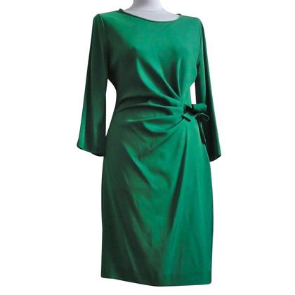 Diane von Furstenberg Verzameld zijden jurk in groen
