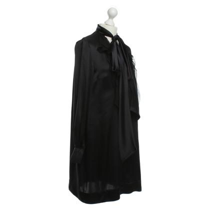 Givenchy zijden jurk met ruches chiffon