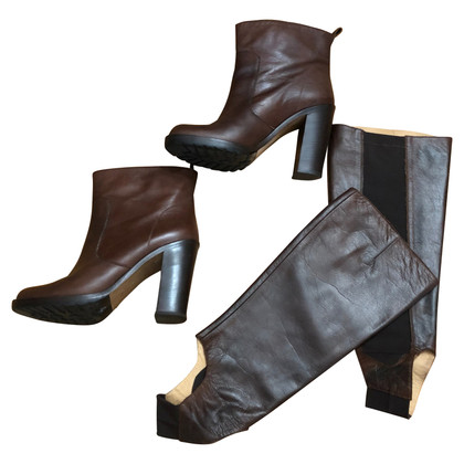 Maison Martin Margiela Brown ankle boots