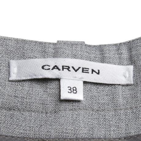Kostenloser Versand Carven Hose in Grau Grau Empfehlen Online Günstig Kaufen Extrem Bester Verkauf 5O1hyrTU
