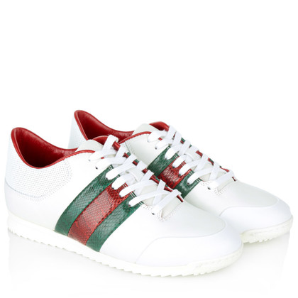 Gucci Sneakers in white/green/red